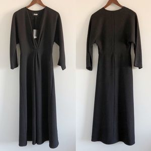 NWT Reformation Vesta Dress in Toad Skin Black S